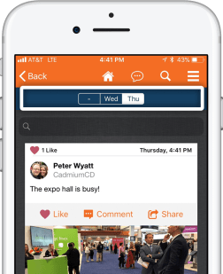 Filtering options in eventScribe App Attendee Chat