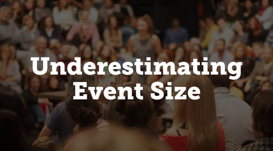 Underestimating Event Size