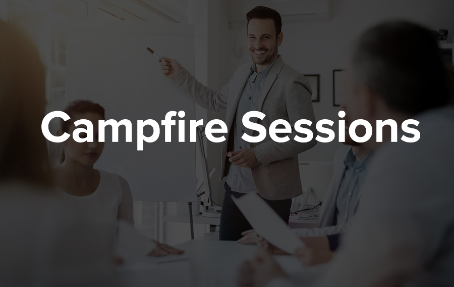 This is the attempt to bring a laid-back atmosphere of campfire storytelling to conferences. This originated byMPI. Who regularly holds such sessions at its annual congresses, EMEC and WEC.