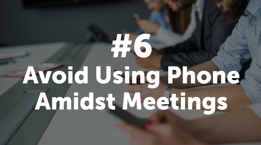 Avoid Using Phone