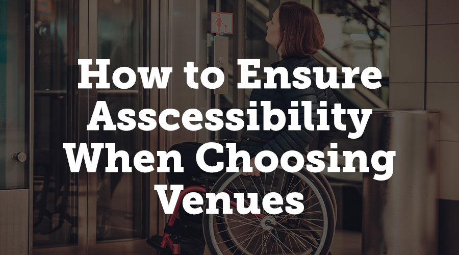 Accessibility is exceptionally important in the events industry. According to research from BestCities Global Alliance, GainingEdge, and Rehabilitation International, universal accessibility is key to business growth, knowledge sharing, and increased competitiveness amongst destinations. Venues should follow best practices for accessibility, and events planners should make sure that the venues they choose follow those practices.