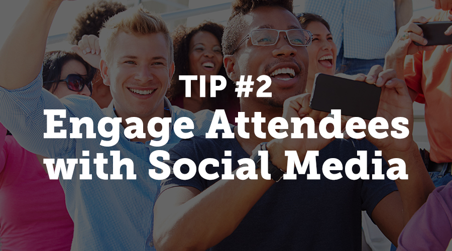 Create official event hashtags to gather interest from attendees before the event starts. Prizes and other incentives can motivate people to retweet or share event content during and after the event. Industry influencers can share how valuable your event will be on their pages.