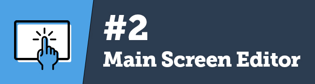 eventScribe Main Screen Editor
