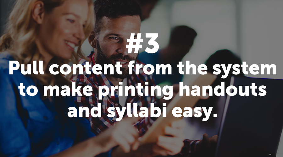 Pull Content to Make Printing Easy