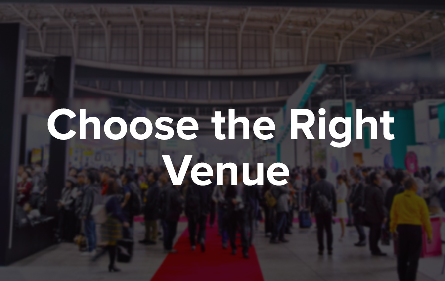 There are many factors to consider when choosing a venue. The first things to consider are size and space. Picking a venue that is too big or too small for your number of attendees is not a good look. The location of the venue also plays a big role: it's wise to choose a location that is enticing to your potential guests so that you can use it as a promotional tool.