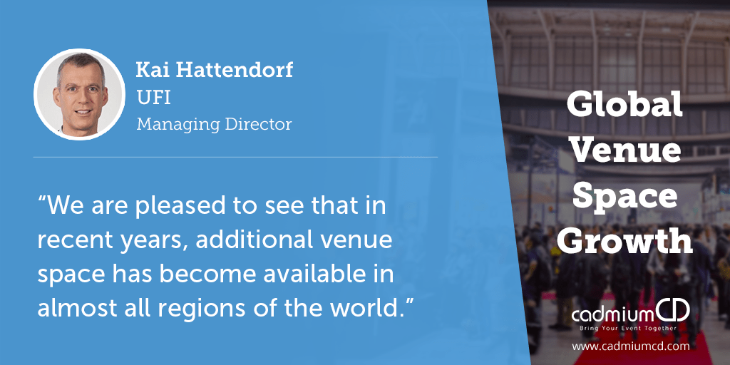 UFI, the Global Association of the Exhibition Industry, released its 2017 World Map of Exhibition Venues report, showing a capacity increase in a majority of the world's markets.