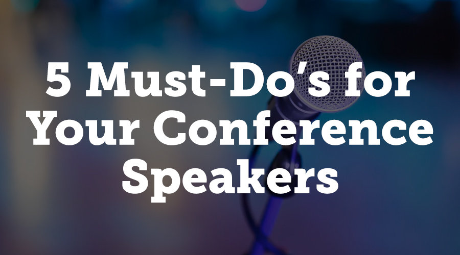 Christina Green looks at what organizers should ask of their speakers in this article on Event Manager Blog. The role of a conference speaker has moved far beyond simply presenting during a session, and this article looks at five things managers should expect their speakers to do before, during, and after the event.