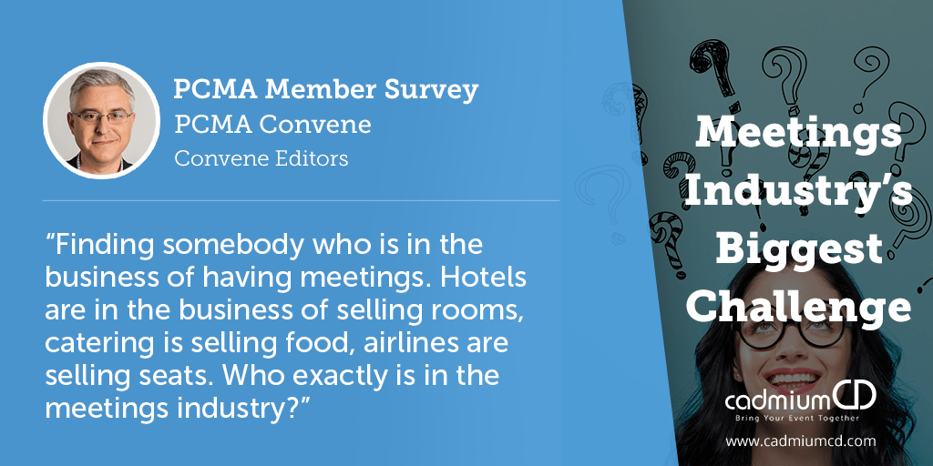Some of the biggest challenges last year's respondents said were their top concerns include airline industry price hikes, attendee budget travel cuts, attracting younger attendees, travel safety and security, appropriate use of technology, and rising costs.