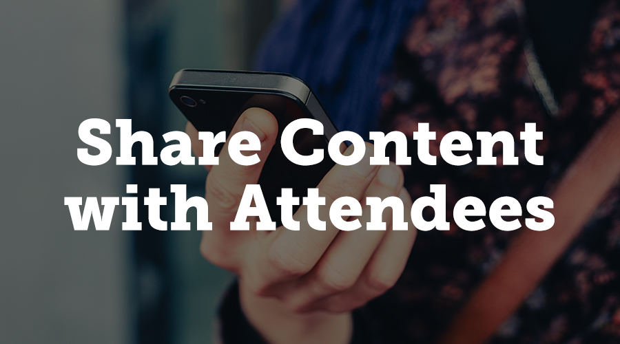 Marketers who use B2B events as part of their strategies know that lots of content happens in real-time at events.