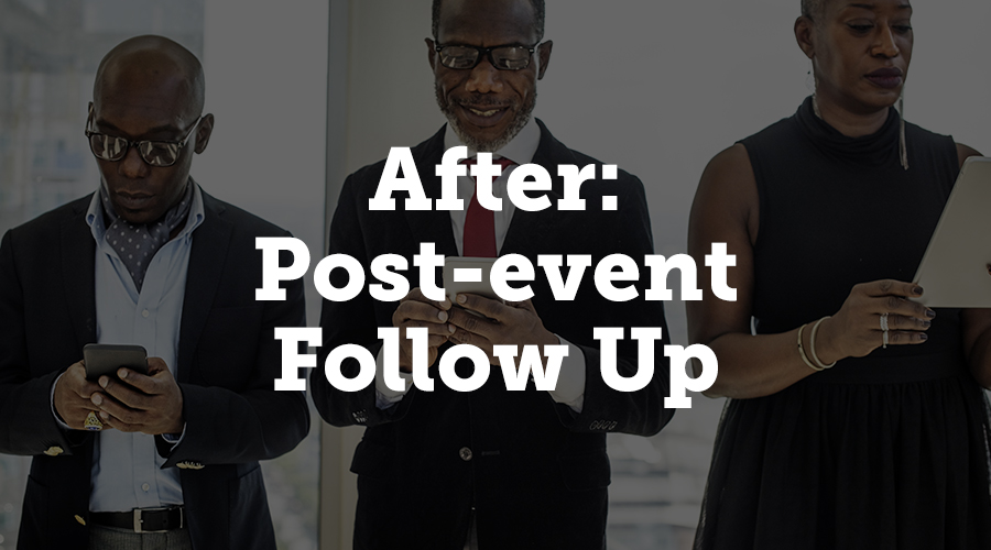 As the last of your guests head out the door, it's a natural assumption to think the hard work is over - but the post-event period also requires some diligent attention if you want to maximise the experience of vendors and attendees.