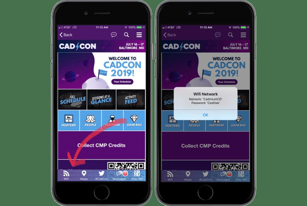 eventScribe Mobile App Pop-Up Screenshot