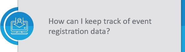 Keeping track of registration data