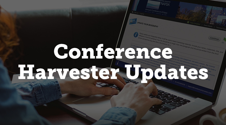 Conference Harvester has also been updated with a lot of new features that will make managing your data easier on you. We've created a multi-select tool for presentation icons that let you put icons next to presentations on website or mobile app.