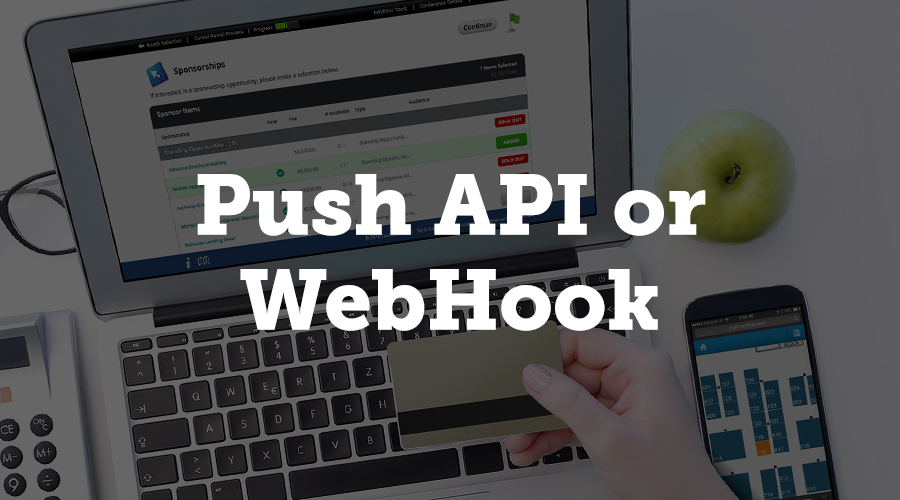 A push API or webhook automatically pushes data to a third party based on a specific trigger.