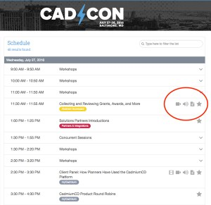 Distribute audio and video content from your conference with an event website.