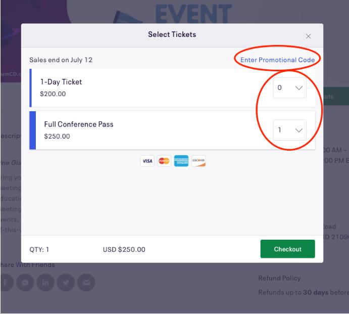 Pick ticket type