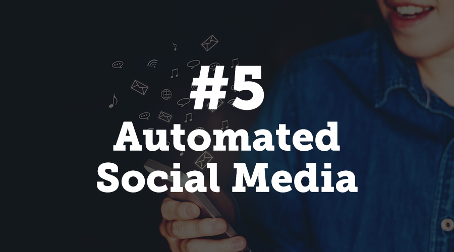 It goes without saying that you'll be promoting your event on your social media pages, so it only makes sense to include automation on these channels.