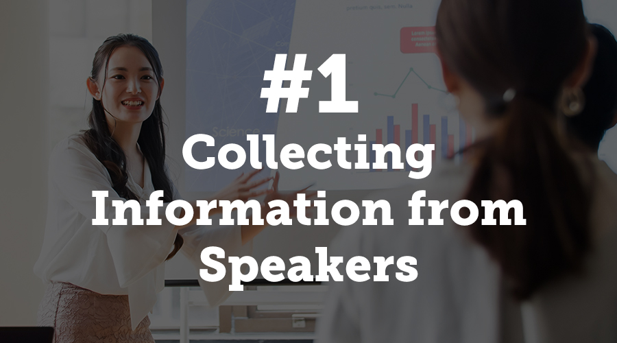 Collecting Information from Speakers