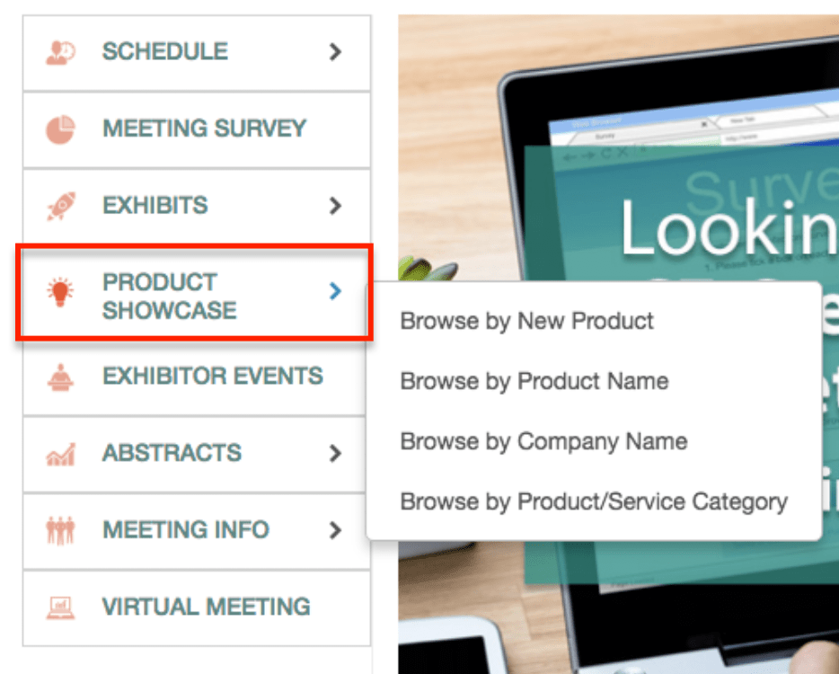 This new feature gives you the ability to showcase new exhibitor products to your attendees on the eventScribe Website and Mobile App.