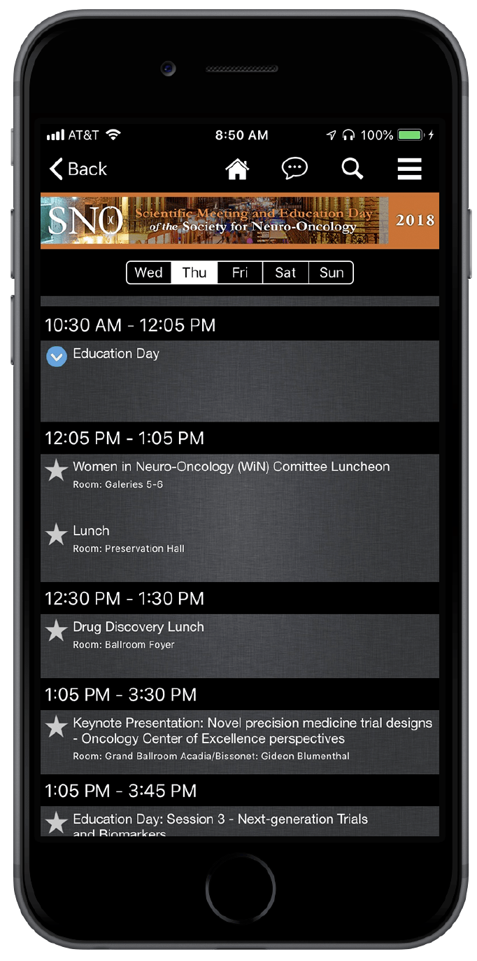 Using the Browse by Day feature, the schedule will update accordingly for the time you are looking at that particular day.