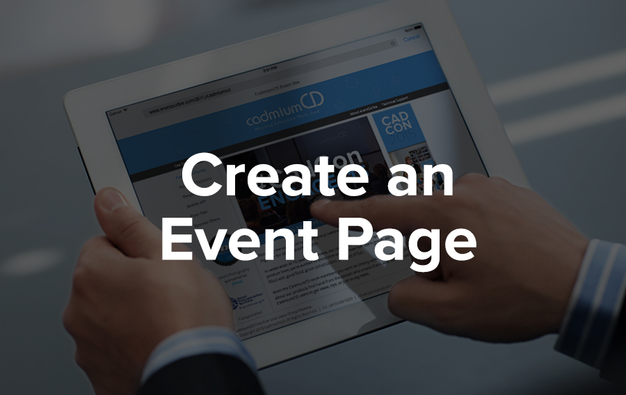 A man touches an event page website on Facebook that's displayed on his iPad.
