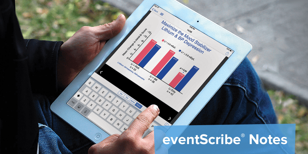 The eventScribe app was named as one of the world's best event apps for its educational tools like note taking on slides.