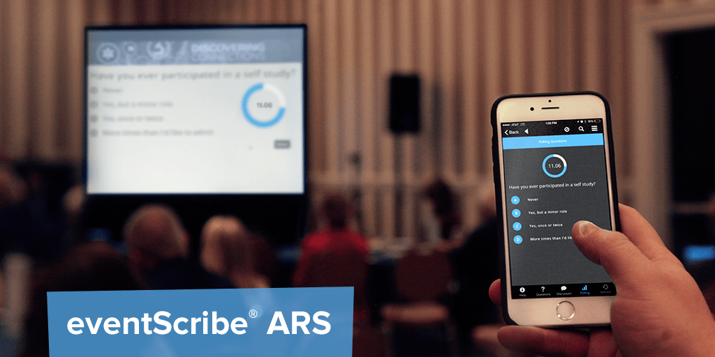 The eventScribe app was named as one of the world's best event apps for features like the social audience response system at the 2016 Eventex Awards.
