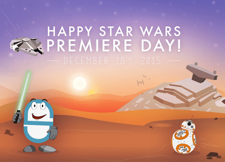 May the force be with you on December 18th 2016! CadmiumCD's mascot CeeDee is celebrating by joining the cause and fighting alongside Jedi's and BB-8.