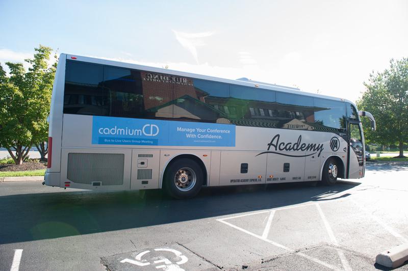 CadmiumCD's CadCon bus designed by Rachel Vrankin.
