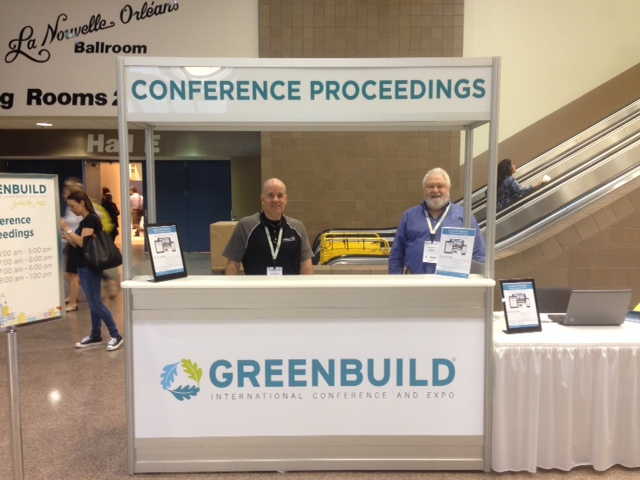 CadmiumCD's Gary Davis and Mike Wyatt selling Conference Proceedings for Greenbuild 2014.