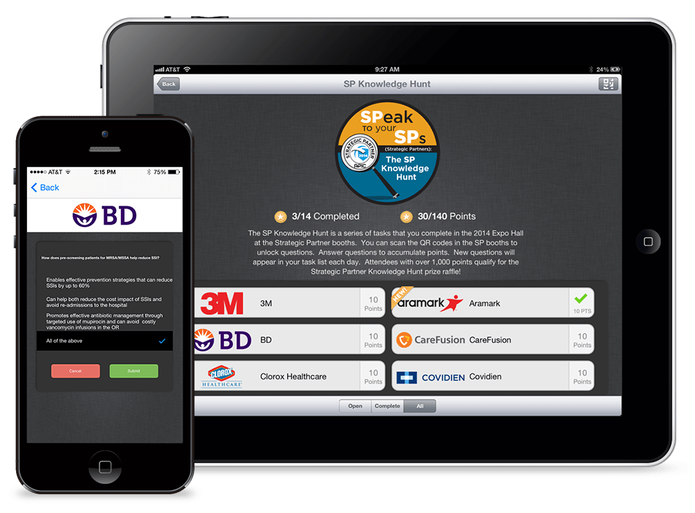 The Knowledge Hunt is a scavenger hunt game for trade shows and conferences. Use the eventScribe Mobile Event App to gamify your next conference or trade show.