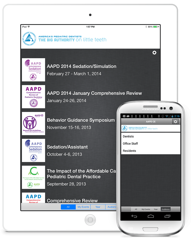 AAPD's multi-event app built with eventScribe by CadmiumCD.
